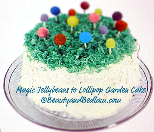 Magic Jelly Beans to Lollipops Garden Cake (Easter Tradition, but perfect for any party)