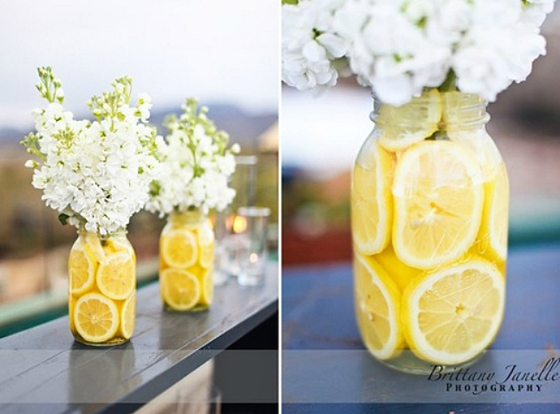 Lemon centerpieces for weddings