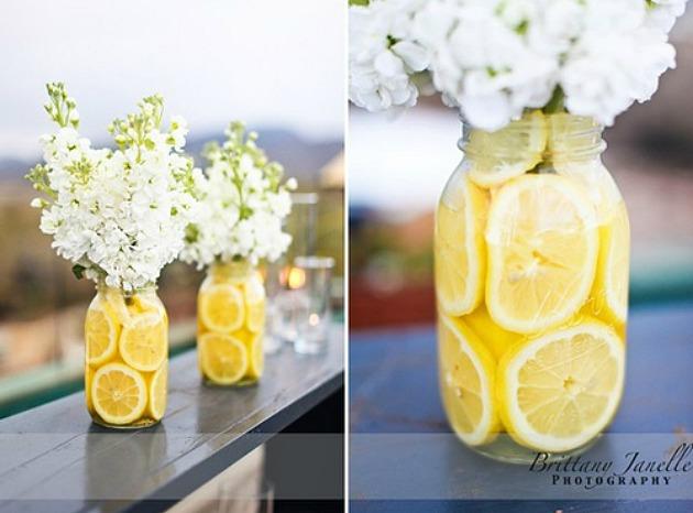 decorating with lemons Simple DIY Centerpieces (using Lemons)