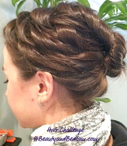 The Sara: Easy Curled Up-Do (that looks like you styled it all day)
