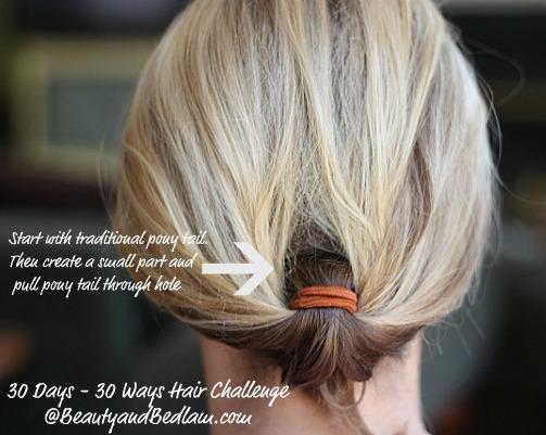 30 Days 30 Ways Hair Challenge Inverted Pony Tail Styles Jen