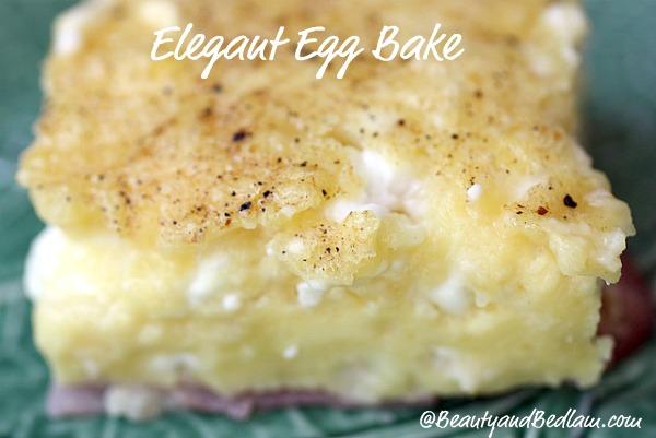 Elegant Egg Bake (Prep Time Only Five Minutes)