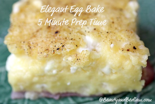You have to try it to believe it! Creamy, elegant Egg bake and it whips up in five minutes
