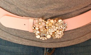buckle using vintage jewelry