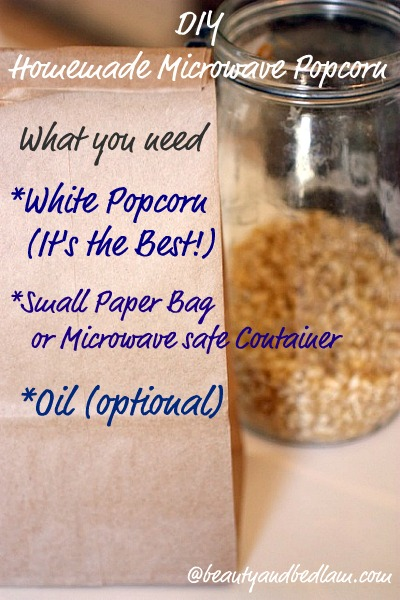 Why do I not always make homemade popcorn this way? DIY microwave popcorn! Perfect!
