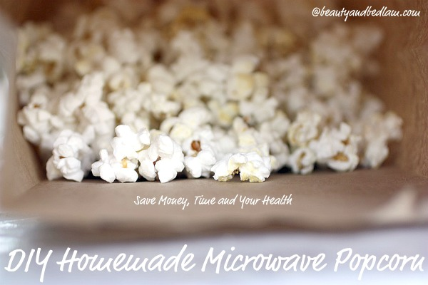 homemade popcorn DIY Homemade Microwave Popcorn (Why Did We Wait?)