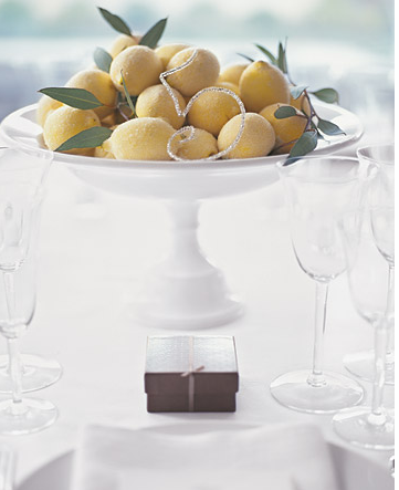 lemon centerpiece for wedding Simple DIY Centerpieces using Lemons