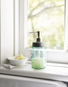 soap pump with mason jar