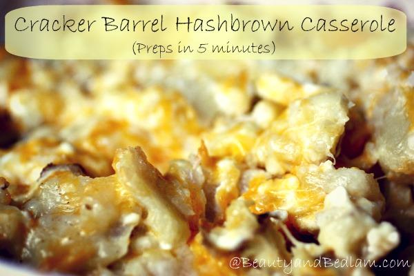 Cracker Barrel Hash Brown Casserole Recipe (5 Minute Prep)