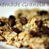 Homemade Chocolate Chip, Peanut Butter Granola Bars