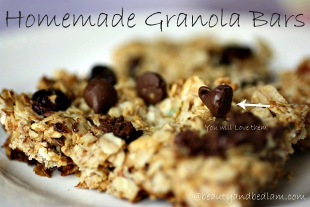 Homemade Granola Bars Homemade Chocolate Chip, Peanut Butter Granola Bars