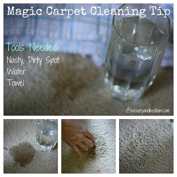 Best EVER FREE Magic Carpet Cleaning Tip