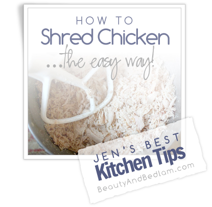 How to Shred Chicken in literally Seconds. This tip revolutionized my kitchen.