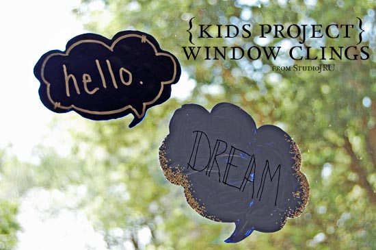 DIY Fun Window Clings Craft