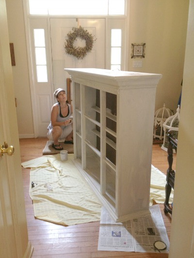 entryway painting ideas amazing color pop hutch transformation balancing beauty and bedlam
