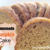 Easy Homemade Pumpkin Cake