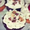 Doctored Up Snickers Cupcakes (with cake mix)