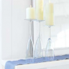 simple elegance glassware as candle holders