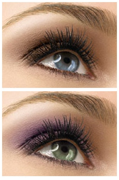 Neutral Smokey eye look + pop of color