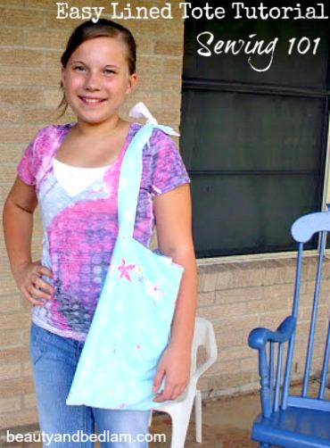 Handmade Gifts – Easy DIY, Lined Tote Bag Tutorial