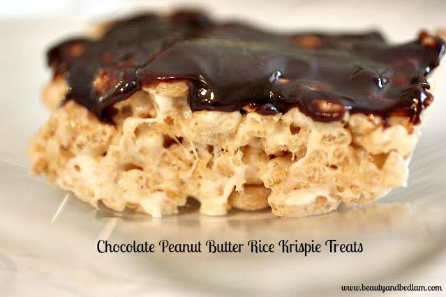 Rice Krispie Treats, Chocolate Peanut Butter Rice Krispie Treats