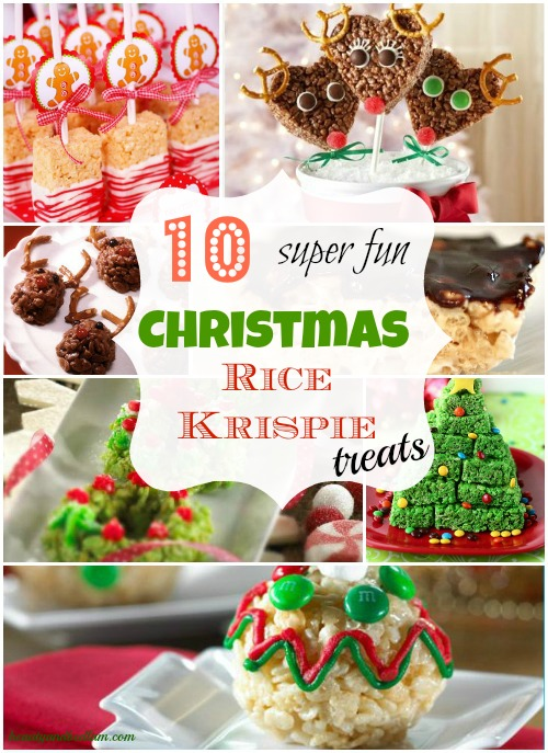 super fun and easy christmas rice krispie treats 10 different ideas