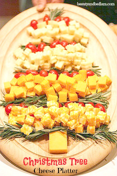 love all these fun Christmas Tree Cheese and Veggie Platter idea .