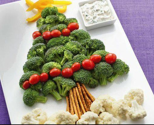 love all these fun Christmas Tree Cheese and Veggie Platter idea