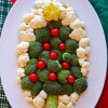 Christmas Tree Veggie, Fruit, and Cheese Platter Ideas
