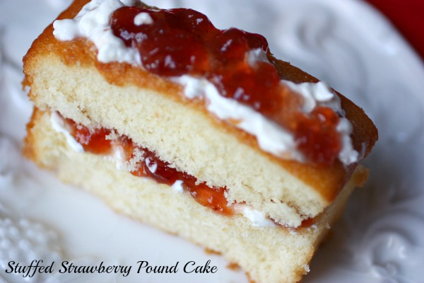 Stuffed Strawberry Pound Cake @beautyandbedlam.com  8 Fancy Pound Cake Fix ups (Great Last Minute Desserts)