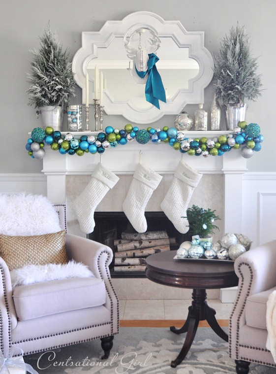 My ornament garland was inspired by Kate's. It's gorgeous @centsationalgirl