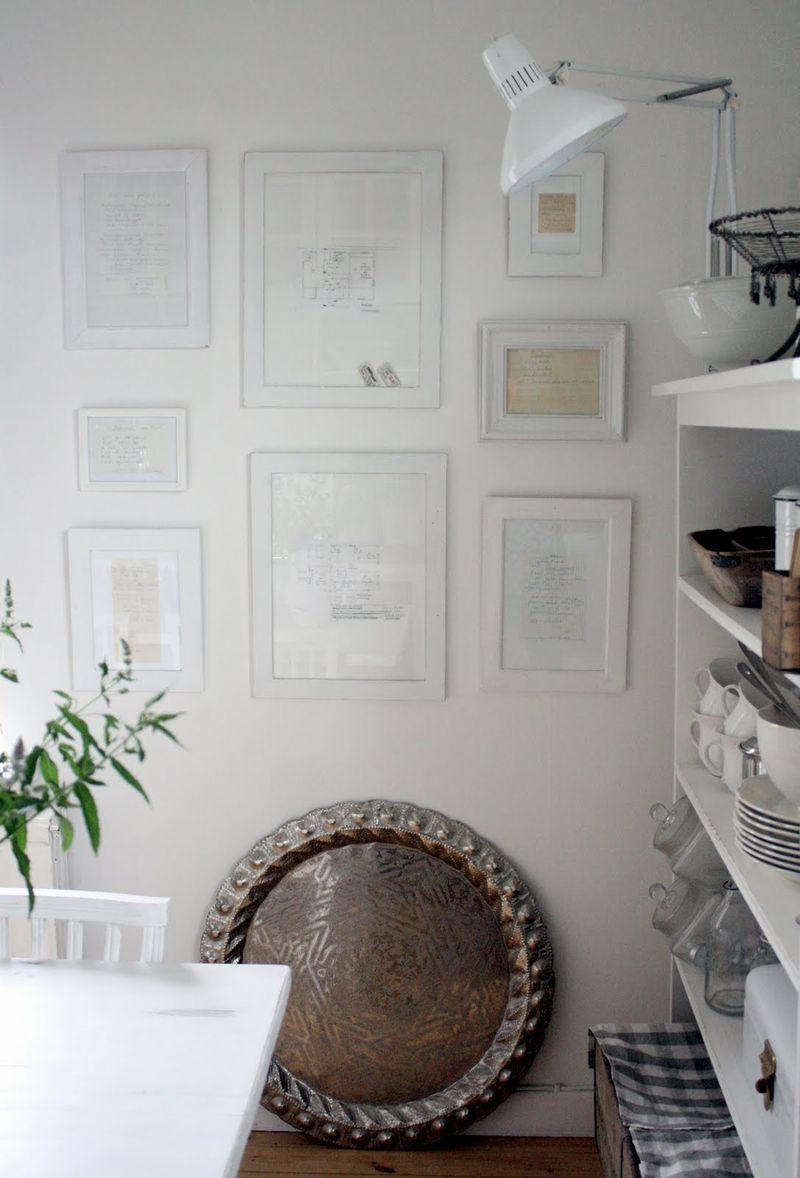 decorating with recipes  neat framed recipe ideas
