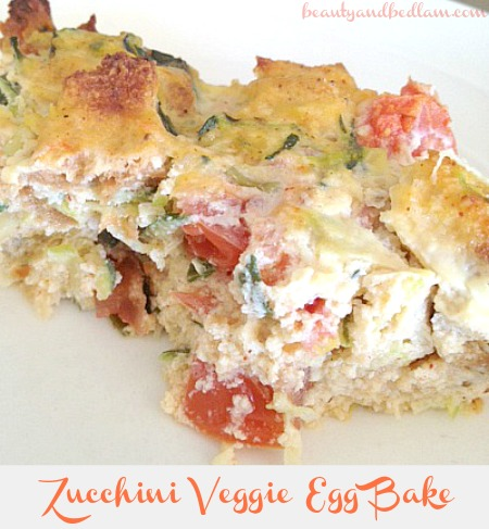 Zucchini Vegetable Egg Bake @beautyandbedlam Veggie Egg Casserole
