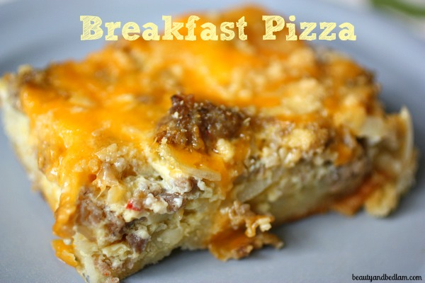 Anytime, Anywhere Breakfast Pizza