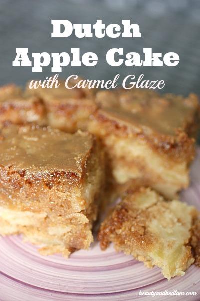 Dutch Apple Cake, Dutch Apple Cake with Caramel Glaze