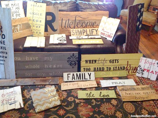 Do It Yourself Sign from a Pallet @beautyandbedlam Easy Do It Yourself Wood Pallet Signs