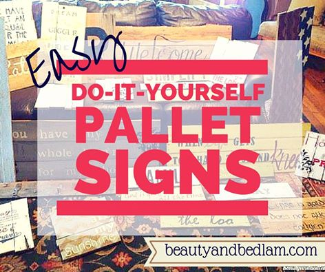 Do it yourself signs diy wood pallet signs easy tutorial for wood pallet signs solutioingenieria