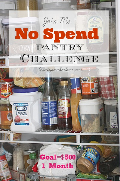 No Spend Pantry Challenge & Meal Ideas