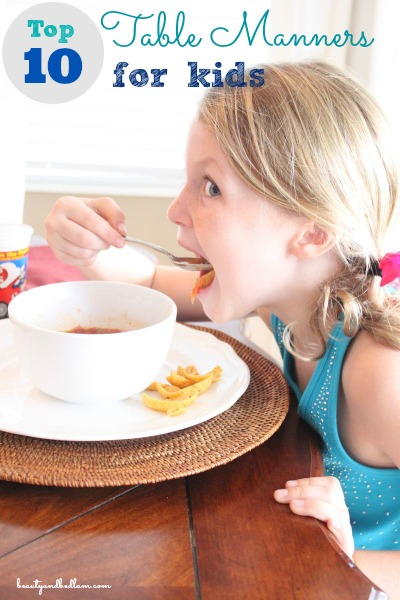 Top 10 Table Manners Every Kid Should Know