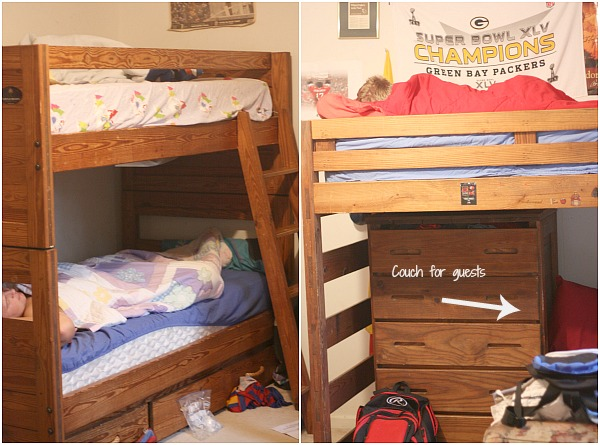 Great Ideas and suggestions for siblings sharing a room.