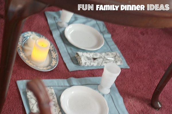 Fun Kid Dinner Ideas: Eat UNDER the Table, Dessert for Dinner!