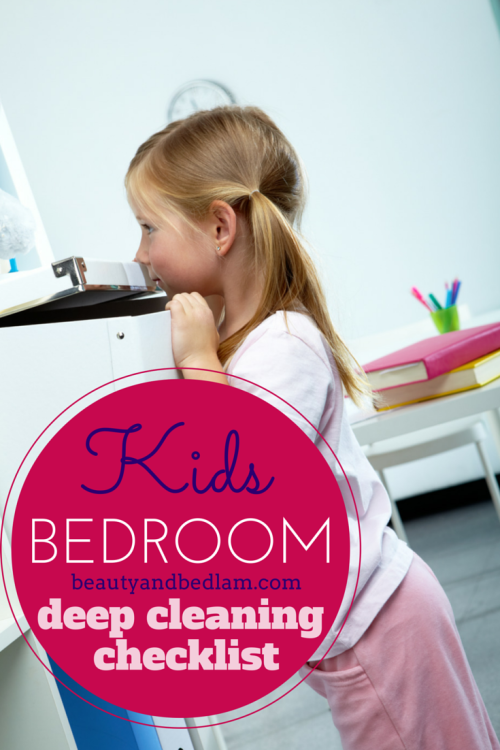 This is the perfect checklist to help us deep clean the bedroom. Not only do I use this for our kids, but for me too. So helpful!