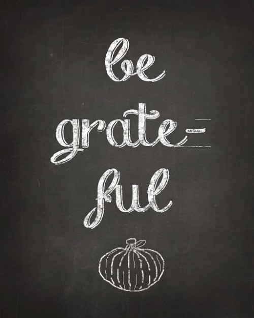 Free Be Grateful Chalk Art Printable