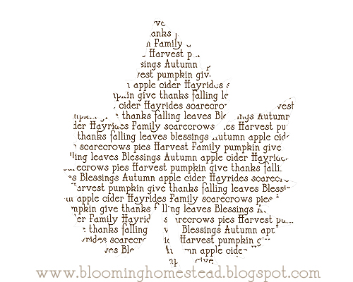 Blooming Homestead Has Numerous Printables For Thanksgiving