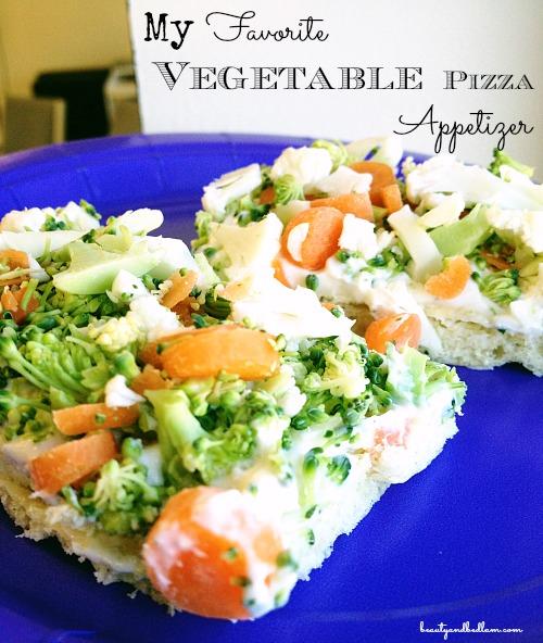 My Favorite Cold Veggie Pizza Appetizer