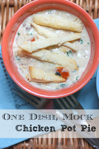One Dish, Mock Chicken Pot Pie