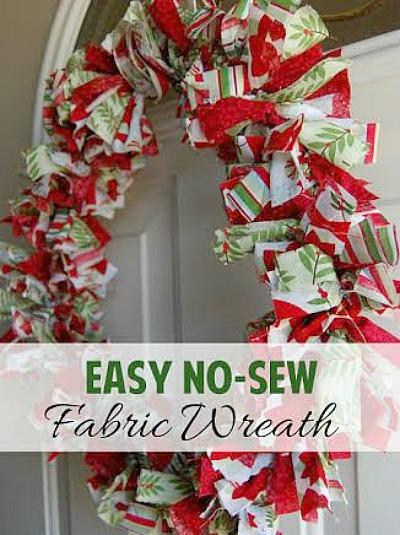 No Sew Diy Fabric Wreath