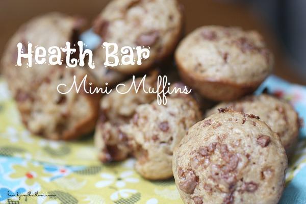 Heath Bar Mini Muffins