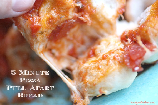 5 Minute Pizza Pull Apart Bread Balancing Beauty And Bedlam