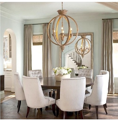 The before and the almost after dining room redo for Beautiful round dining tables